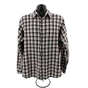 Wrangler Men's Blackn&White Flannel Button Down